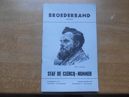 Broederband Maandblad   8e Jaargang Nr 11-12  Staf De Clercq-nummer - Magazines & Newspapers