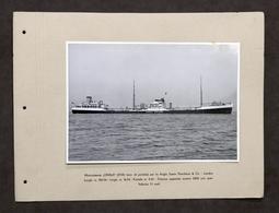 Marina Navi - Fotografia Motocisterna Omala - Anglo Saxon Petroleum - 1940 Ca. - Foto