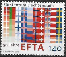 2010 Liechtenstein Mi. 1561**MNH  50 Jahre Europäische Freihandelszone (EFTA) - Liechtenstein
