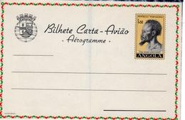 "Portugal 1963 Angola Aerogramme, Air Letter H&G FG28 MINT ""Night Panorama"" II - Angola"