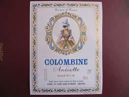 Etiquette - ANISETTE COLOMBINE - ETS SEDOR - ST JEAN DE BRAYE - ORLEANS - Etiquettes