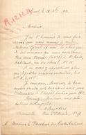 Brief Lettre - Mad. M. Duyckers - Gent - Naar Kadaster 1921 + Brief Met Antwoord - Old Paper