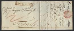 DA ROVERETO A TRENTO - 5.1.1829. - Italy