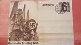"""DR 33-45: Sonder-Gs-Karte Mit 6 Pf """"1. Mai 1934"""" Mit Ortsst. WILDPARK Ohne Anschrift 1.5.34 Knr: 480 - Briefe U. Dokumente"""