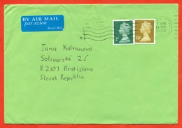 Great Britain 2001. Airmail. The Envelope Passed The Mail. - 1952-.... (Elizabeth II)