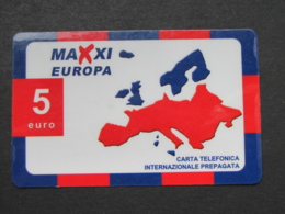 *ITALY* USATA USED - INTERNATIONAL PREPAID PHONE CARD - MAXI EUROPA - Schede GSM, Prepagate & Ricariche