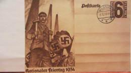 """DR 33-45: Sonder-Gs-Karte Mit 6 Pf """"1.Mai"""" Mit Ortsstpl. WILDPARK Ohne Anschrift Vom 1.5.34 Knr: P 251 - Deutschland"""