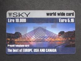 USATA USED - INTERNATIONAL PREPAID PHONE CARD - SKY - Italy