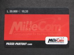 *ITALY* USATA USED - INTERNATIONAL PREPAID PHONE CARD - MILLECOM PASSE PARTOUT - Italy