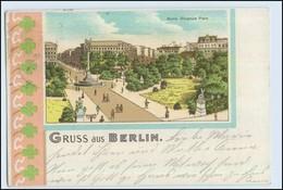 W6H48/ Berlin Gruß Aus Berlin 1901 Litho AK (b) - Spandau