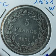 5 Francs 1831 W - Francia