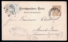 CARTOLINA COMMERCIALE  MUHLBACH DEL 1888 -   SPEDITA DA ROVERETO MA TIMBRO ERRATO  ROVEREDO - Negozi