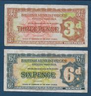 Grande Bretagne - British Armed Forces - 2 Billets - Forze Armate Britanniche & Docuementi Speciali