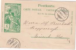 SUISSE 1900    ENTIER POSTAL/GANZSACHE/POSTAL STATIONERY CARTE DE BULACH - Stamped Stationery