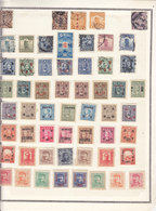CHINA LOT ON  24 PAGES -ONTHE LAST 5th PAGES SOME STAMPS HAVE WRITTEN CATALOGUE NUMBER REPORTED AT REVERSE WITH BALLPEN - Collections, Lots & Séries