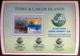 Turks And Caicos 1992 Earth Summit Minisheet MNH - Turks And Caicos