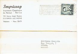 CP Publicitaire CUESMES-LEZ-MONS 1959 - IMPRICOOP - Imprimerie Coopérative Du Hainaut - Châtelet