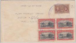 Panama - 4x2 C. Ochsengespann/Zuckerrohr U.a., Ortsbrief Colon 1950 - Panama