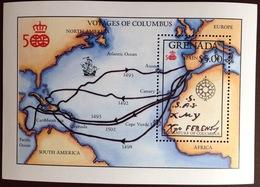 Grenada 1987 Columbus Discovery Of America Minisheet MNH - Grenada (1974-...)