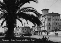 "M08078 ""VIAREGGIO-VIALE MARCONI ED ALBERGO ROYAL""ANIM.-FIAT 500 TOPOLINO-INSEGNA VEEDOL MOTOR OIL-CART. ORIG. SPED.1952 - Viareggio"