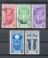 MA19 1933 Anno Santo Serie Completa Posta Ordinaria 5 Valori - Sassone Nn. 345/349  Usati / Used - Oblitérés