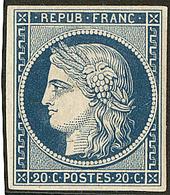 * Non émis. No 8a, Bleu Foncé, Pli Horizontal Mais Superbe D'aspect. - R - 1849-1850 Cérès