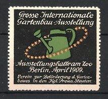 Reklamemarke Berlin, Grosse Internationale Gartenbau-Ausstellung 1909, Giesskanne - Vignetten (Erinnophilie)