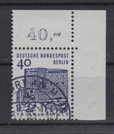 Berlin 245 Eckrand Rechts Oben Deutsche Bauwerke 40 Pf Gestempelt - Berlin (West)