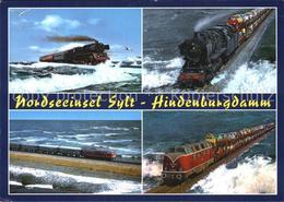 72614120 Lokomotive Hindenburgdamm Insel Sylt  Eisenbahn - Schienenverkehr