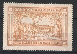 Reklamemarke Gand - Gent, Exposition Universelle Internationale 1913, Serre Des Orchidees, Orange - Vignetten (Erinnophilie)