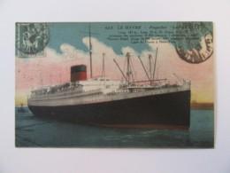 """Le Havre N°622 - Paquebot """"LAFAYETTE"""" - Carte Postale Couleur Circulée En 1937 - Dampfer"""