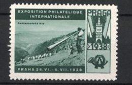 Reklamemarke Praha - Prag, Exposition Philatelique Internationale 1938, Bauer Mit Alphorn - Cinderellas