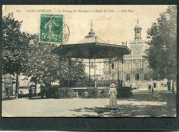 CPA - SAINT SERVAN - Le Kiosque De Musique Et L'Hôtel De Ville, Animé - Saint Servan