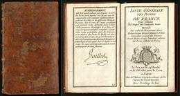 """""""Liste Générale Des Postes De France 1776"""", Avec Carte Des Routes De Poste, Relié Cuir, Bon état - Non Classés"""