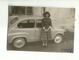 """3519 """"IN POSA DAVANTI ALLA 600 PORTE CONTROVENTO-1958"""" ORIGINALE - Automobili"""