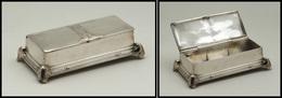 Boîte Rectangulaire En Argent, Poinçons De Contrôle, 3 Comp., 95x50x30mm. - TB - Boites A Timbres