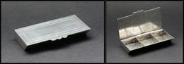 Boîte Portugaise En étain, 3 Comp., 85x45x18mm. - TB - Boites A Timbres