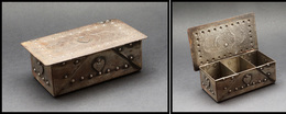 Boîte En Métal, Style Coffre Ancien, 3 Comp., 115x65x35mm. - TB - Boites A Timbres