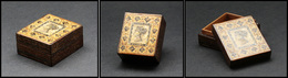 """Boîte Tumbridge Avec """"Reine Victoria"""" Sur Le Couvercle, 1 Comp., 40x35x20mm. - TB - Boites A Timbres"""
