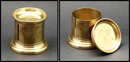 Distributeur De Roulettes. Modèle En Bronze Doré, Diam.60mm X H.50mm. - TB (1e Pièce Signalée) - Stamp Boxes