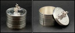 Distributeur De Roulettes. Modèle En Bronze Argenté, à Décor De Fleurs En Relief, Diam.45mm X H.35mm. - TB - Boites A Timbres