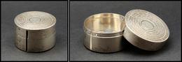 Distributeur De Roulettes En Argent, Poinçons De Contrôle R.B 2326, Diam.48mmxH.28mm. - TB - Stamp Boxes