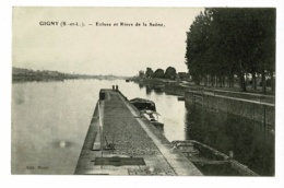 Gigny - Ecluse Et Rives De La Saône - Circulé 1923 - France