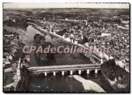 CPSM Chatellerault (Vienne) Vue Aerienne Le Pont Henri IV - Chatellerault