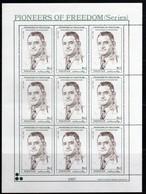 Pakistan 1996 PPioneers Of Freedom Khurho  9x 1 Rs N° 988 MNH  Neuf   1 Bloc 9 Stamps - Pakistan