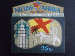 Belgie 1955 Wandkalender Nieuw Afrika Witte Paters, Per Week, Mooie Foto's Form. 19,5 X 19,5 Cm - Calendriers