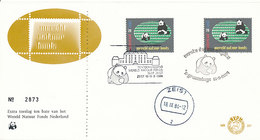 DC-1673 FDC NETHERLANDS 1984 - WWF WNF GIANT PANDA - 2 DIFFERENT SPEC. POSTMARK - FDC