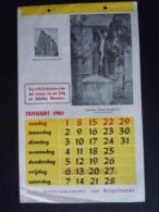 Belgie 1961 Sint-Antonius-kalender Van Balgerhoeke Form. 17,3 X 27,8 Cm - Calendriers
