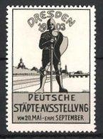 Reklamemarke Dresden, Deutsche Städte Ausstellung 1903, Ritter Am Stadtrand - Vignetten (Erinnophilie)