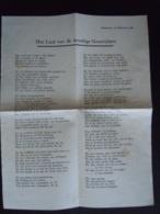 Lyrics A4 Blad Eeckeren 12 Februari 1929 Het Lied Van De Moedige Gansrijders - Musique & Instruments